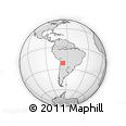 Outline Map of Oratorio, rectangular outline