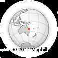 "Outline Map of the Area around 22° 33' 23"" S, 149° 40' 30"" E, rectangular outline"
