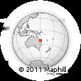 "Outline Map of the Area around 22° 33' 23"" S, 150° 31' 30"" E, rectangular outline"