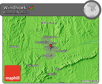 Free Political 3D Map of Windhoek