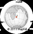 Outline Map of Manombo, rectangular outline