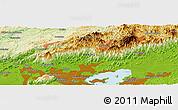 Physical Panoramic Map of Santa Cruz