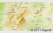 Physical 3D Map of Ampandra Avaratra