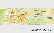 Physical Panoramic Map of Ampandra Avaratra