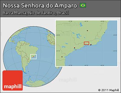 Savanna Style Location Map of Nossa Senhora Do Amparo