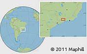 Savanna Style Location Map of União