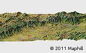 Satellite Panoramic Map of União