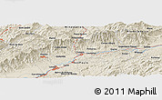 Shaded Relief Panoramic Map of União