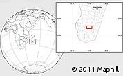 Blank Location Map of Ihosy