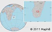 Gray Location Map of Ihosy