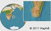 Satellite Location Map of Ihosy