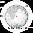Outline Map of Ivohibe, rectangular outline