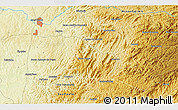 """Physical 3D Map of the area around 22°33'23""""S,46°40'29""""W"""