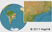 "Satellite Location Map of the area around 22°33'23""S,46°40'29""W"