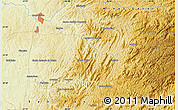 """Physical Map of the area around 22°33'23""""S,46°40'29""""W"""