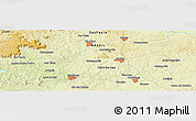 """Physical Panoramic Map of the area around 22°33'23""""S,47°31'29""""W"""