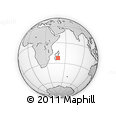 "Outline Map of the Area around 22° 33' 23"" S, 48° 31' 29"" E, rectangular outline"