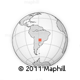 Outline Map of Concepción Department, rectangular outline