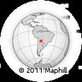 Outline Map of Tartagal, rectangular outline