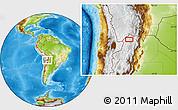 Physical Location Map of Orosmayo