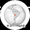 Outline Map of Orosmayo, rectangular outline