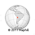 Outline Map of Machuca, rectangular outline