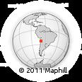 Outline Map of José Francisco Vergara, rectangular outline