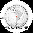 Outline Map of Cobija, rectangular outline