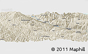 Shaded Relief Panoramic Map of Wadie