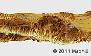 Physical Panoramic Map of Pailoupo