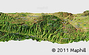 Satellite Panoramic Map of Yezu