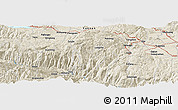 Shaded Relief Panoramic Map of Yezu