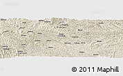 Shaded Relief Panoramic Map of Deling