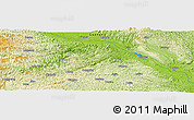 "Physical Panoramic Map of the area around 23° 23' 16"" N, 107° 10' 30"" E"