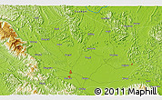 """Physical 3D Map of the area around 23°23'16""""N,108°52'30""""E"""
