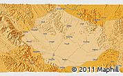 """Political 3D Map of the area around 23°23'16""""N,108°52'30""""E"""