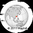 Outline Map of Zhegu Mountain Forest Ground, rectangular outline