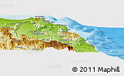 Physical Panoramic Map of Muscat