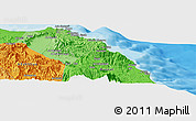 Political Panoramic Map of Muscat