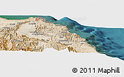 Satellite Panoramic Map of Muscat