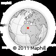 Outline Map of Ahaggar, rectangular outline