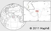 Blank Location Map of Gāndhīnagar