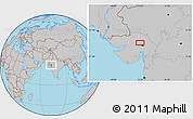 Gray Location Map of Gāndhīnagar