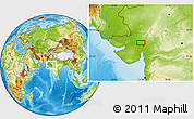 Physical Location Map of Gāndhīnagar