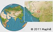 Satellite Location Map of Gāndhīnagar