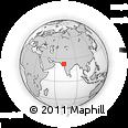 Outline Map of Gāndhīnagar, rectangular outline