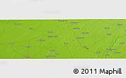 Physical Panoramic Map of Gāndhīnagar
