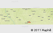 """Physical Panoramic Map of the area around 23°23'16""""N,75°43'29""""E"""