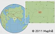 Savanna Style Location Map of Bhopāl