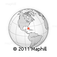 """Outline Map of the Area around 23° 23' 16"""" N, 79° 49' 29"""" W, rectangular outline"""